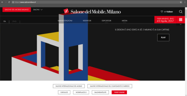 Salone del Mobile WEB